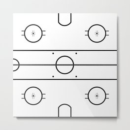 Ice Hockey Rink Metal Print