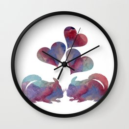 Chinchilla art Wall Clock