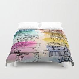 Colorful Zip Line Pattern Duvet Cover