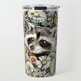 Summer raccoon Travel Mug