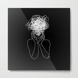 Migraine - Black Metal Print