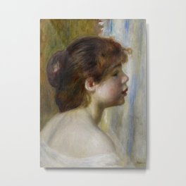Head of a Young Woman Metal Print