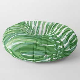 Abstract Palm Leaves   Green Floor Pillow
