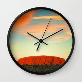 The Red Heart of the Earth Wall Clock