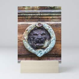Lion Door Knocker - Regal Leo Travel Photography Mini Art Print