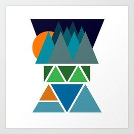 Sunset Fjord Art Print