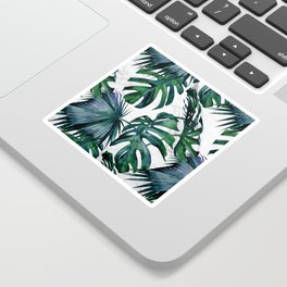 Tropical Palm Leaves Classic on Marble Sticker