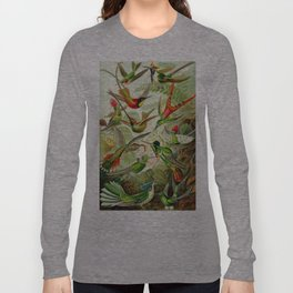Kunstformen der Natur (Art Forms in Nature)a book of lithographic and halftones. Hummingbirds Long Sleeve T-shirt