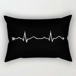 ecg arrow  Rectangular Pillow