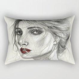 Woman Portrait Rectangular Pillow