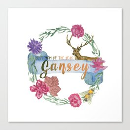 """""""Gansey - Best Mom of The Year"""" The Raven Cycle Inspired Canvas Print"""