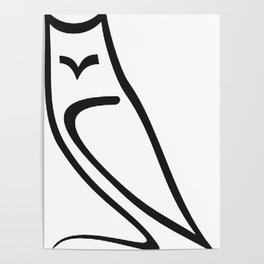 Vector Style Owl Poster