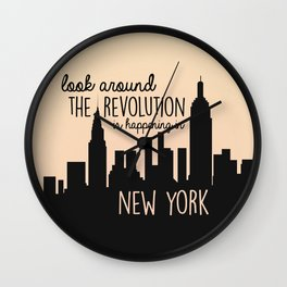 The revolution is happening in New York! Wall Clock