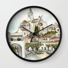 Cadaques 2 Wall Clock