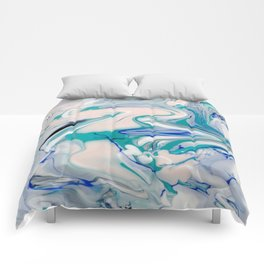 Marble watercolor pastel Comforters