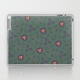 Bohemian Peacock and Leaf Thread Weave Pattern \\ Yellow Green Blue Purple Color Scheme Laptop & iPad Skin