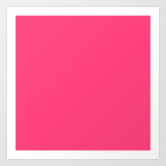 Intensively Pink Art Print
