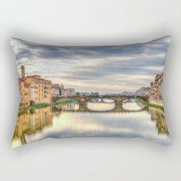 Arno River and Ponte Vecchio, Florence Rectangular Pillow