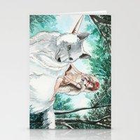 princess mononoke Stationery Cards featuring Princess Mononoke by VivianLohArts