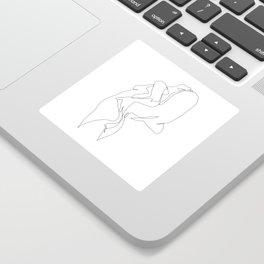 One line nude - e 5 Sticker