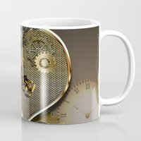 motorcycle Mugs featuring Steampunk, motorcycle  by nicky2342