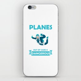 I Jump Out Of Planes Skydiving Parachuting Extreme Sports Adventure Gifts iPhone Skin