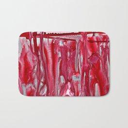 Crimson Winter Landscape Bath Mat