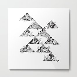 botanical triangles Metal Print