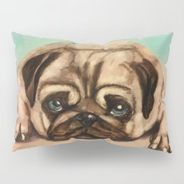 Cute Pug dog pastel Pillow Sham