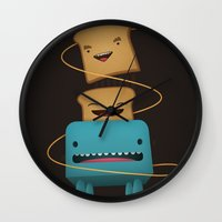 good morning Wall Clocks featuring Good Morning by mrbiscuit