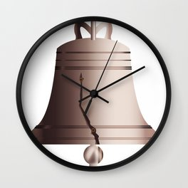 Liberty Bell With Crack Wall Clock