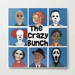 The Crazy Bunch Metal Print