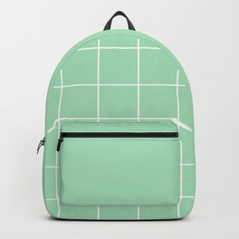 Grid pattern on carnival glass Backpack