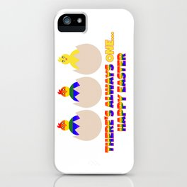 LGBT Easter Chickens iPhone Case