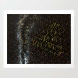 Galaxometry Art Print