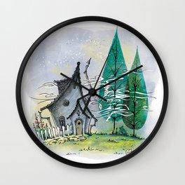Wind in the poplars Wall Clock