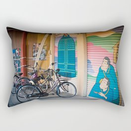 Asakusa Bike Rack Rectangular Pillow