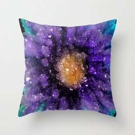 Crystalized Flowers Throw Pillow