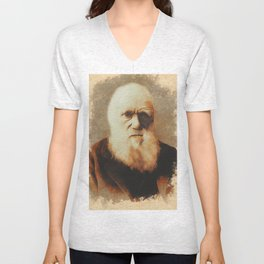 Charles Darwin, Scientist Unisex V-Neck