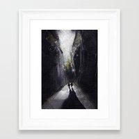 running Framed Art Prints featuring Running. by shugmonkey