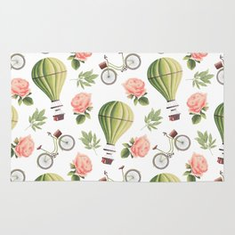 Bicycles Roses and Balloons Rug