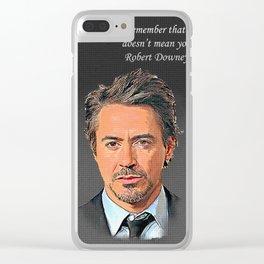 Robert Downey Jr Desain 006 Clear iPhone Case