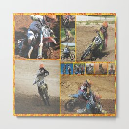 Motocross Collage Metal Print