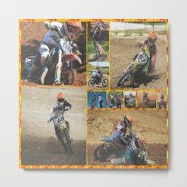 Motocross Collage Metal Print