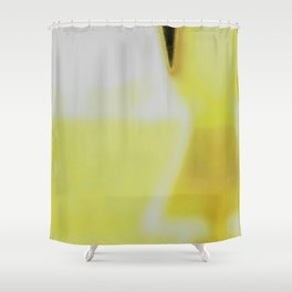 Lab Abstract Yellow Shower Curtain