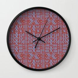 Mudcloth No. 1 in Rust Wall Clock