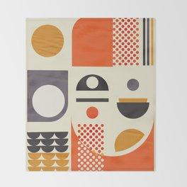 Mid-century no1 Throw Blanket