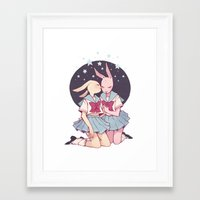 bunnies Framed Art Prints featuring Bunnies by Sophie L