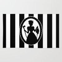 black widow Area & Throw Rugs featuring Widow by babydark