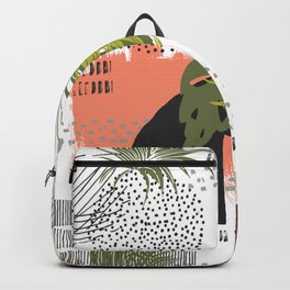 Nature abstract with linear strokes Backpack